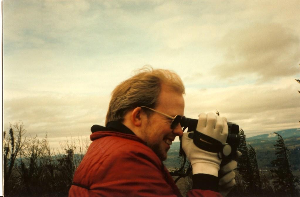 David with video camera