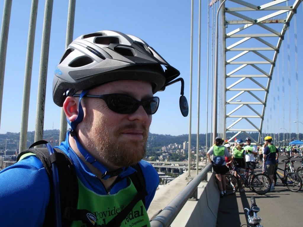 David during Bridge Pedal event