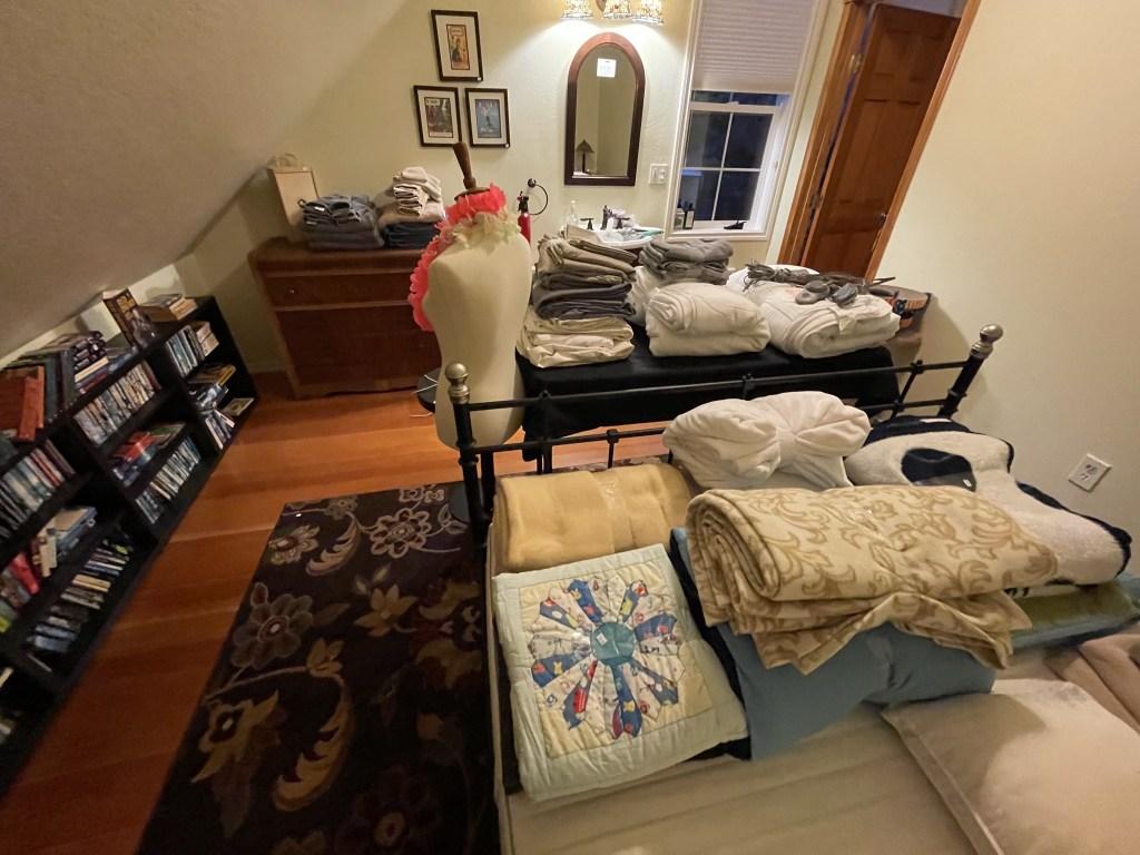 Books, bedding