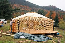 yurt-being-built