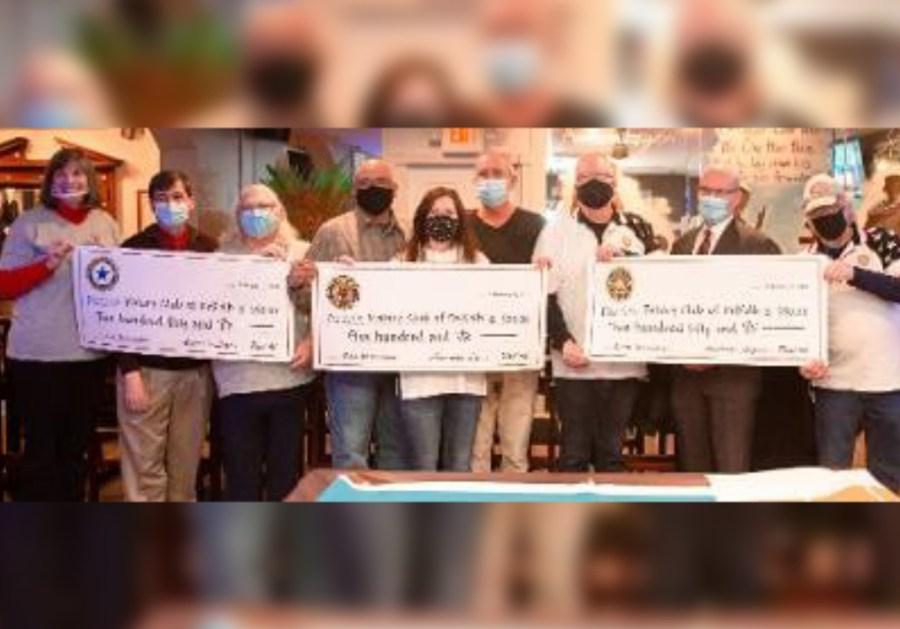DeKalb Rotary Receives Donation From American Legion For Memorial Clock Restoration
