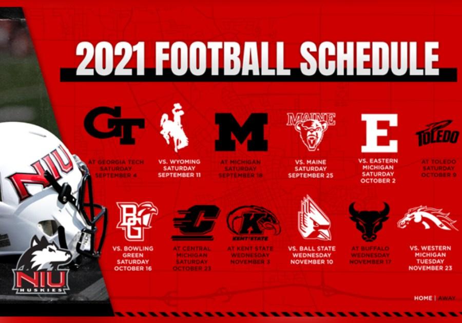 NIU Releases 2021 Football Schedule