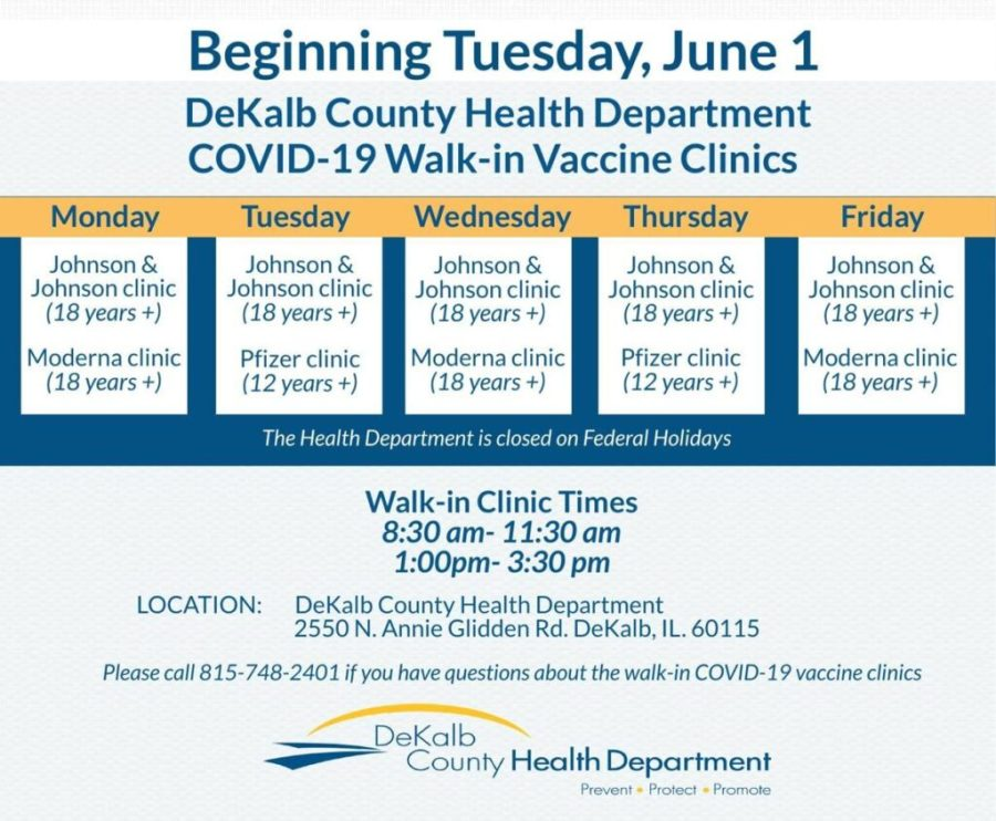 DeKalb County Health Department COVID-19 Walk In Vaccine Clinics