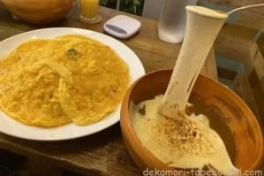 台東区浅草橋リトルヤミー新大食いチャレンジ爆盛チーズが伸びーる飲めるオムライス