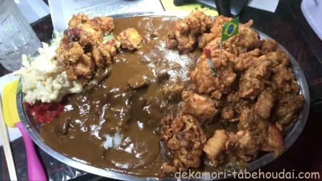 茨城県古河市デカ盛り愛情盛りの聖地文福飯店ユーチューバー御用達大繁盛店鶏タコ豚からあげ3種のおまかせからあげカレー
