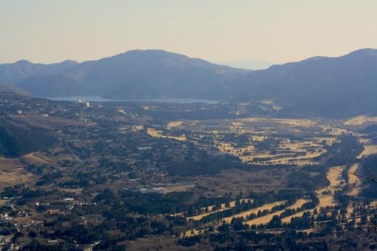 View of Sengokuhara valley from Mount Kintoki