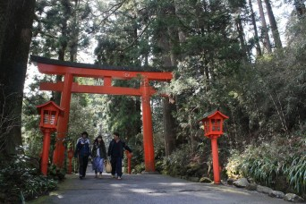 Hakone shrine, side entrance