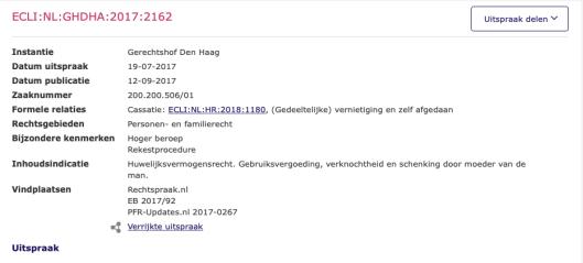 uitspraak van het gerechtshof ECLI:NL:GHDHA:2017:2162