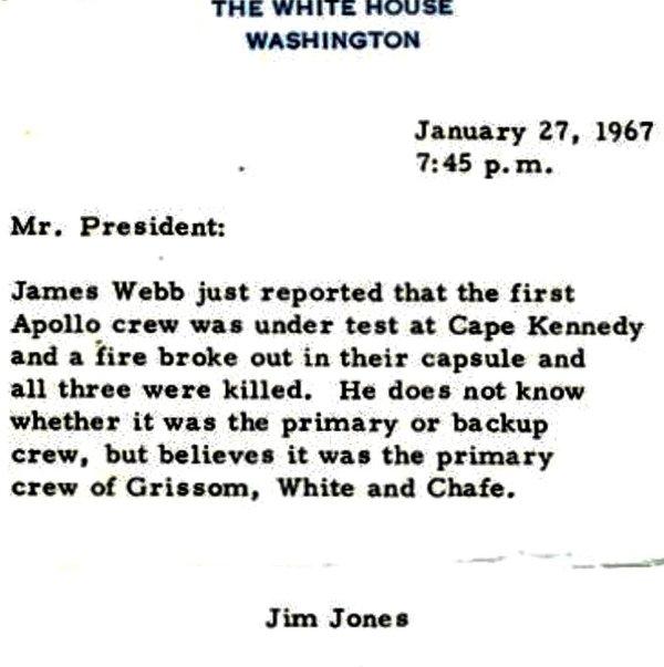 Jan 27 1967 3 Astronauts Died in Launchpad Fire