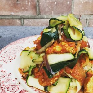 Courgette papardelle