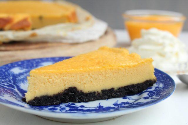 Advocaat cheesecake met een Oreo bodem