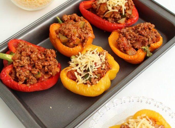 Spicy gevulde paprika