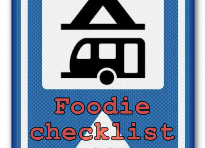 foodie checklist camping