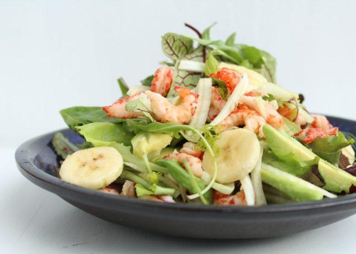 salade met rivierkreeftjes