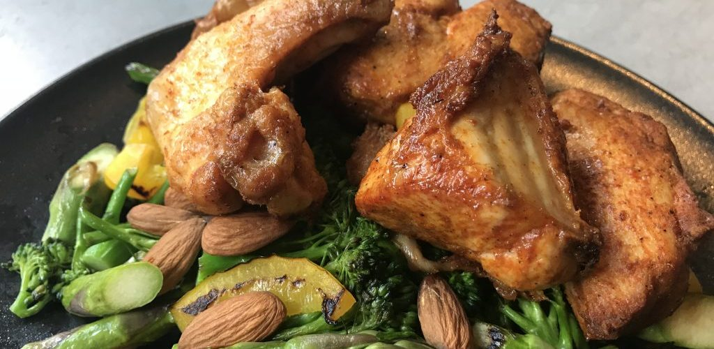 Kippenpootjes met groente