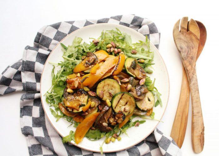 Gegrilde groente salade