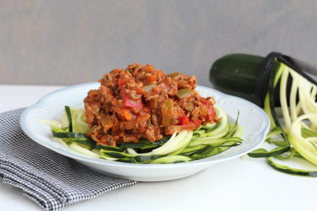 Courgetti arrabiata
