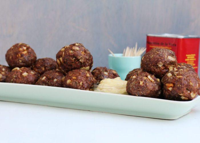 smokey meatballs met gerookte paprikapoeder