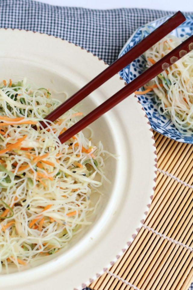 recept voor Japanse glass noodle salade