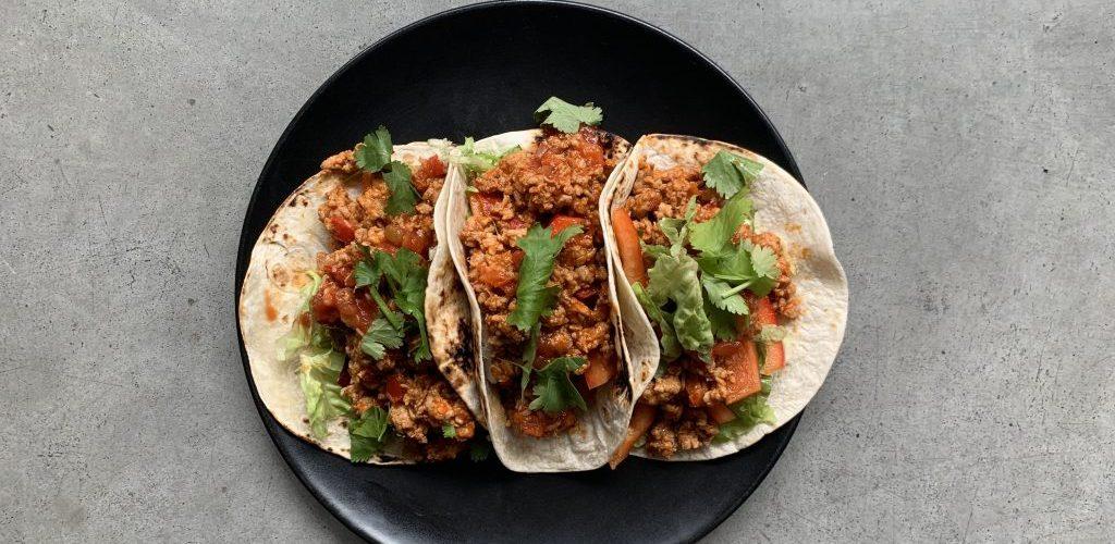 Makkelijke kip taco's