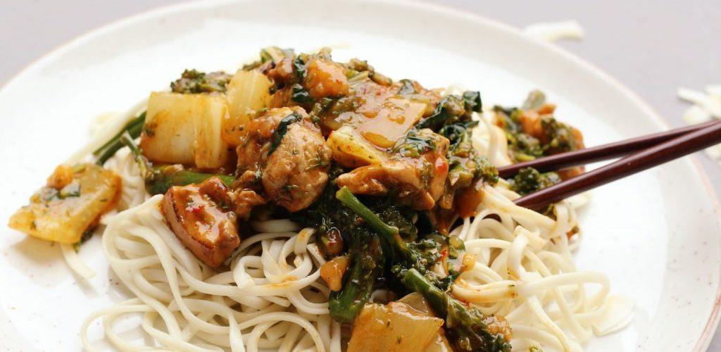recept met udon noodles