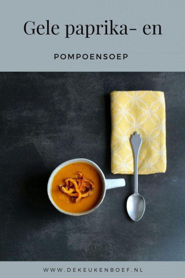 gele paprika- en pompoensoep