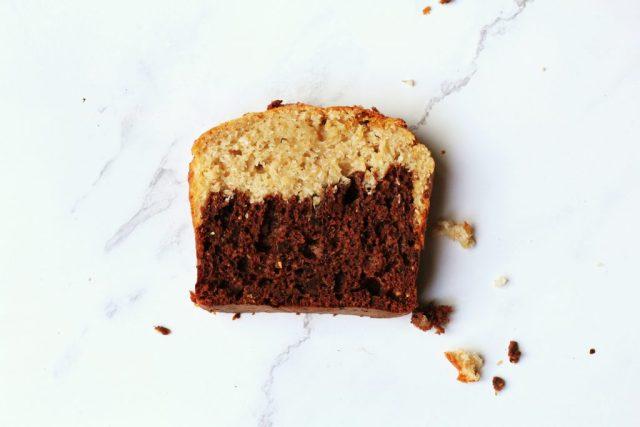 kokos- en chocoladecake
