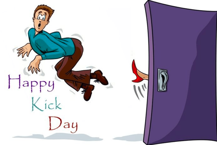 happy kick day quotes whatsapp status jokes messages sms