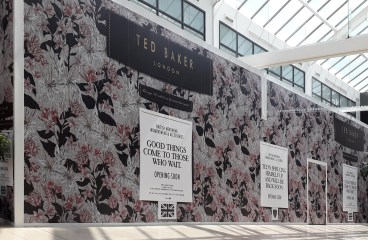 Retail Hoarding – Ted Baker in York Designer Outlet