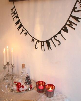 merry christmas en lilian's kerst kado versiering