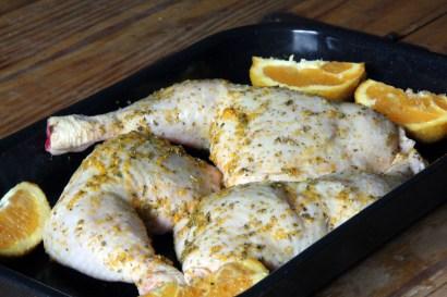 gemarineerde rauwe kip