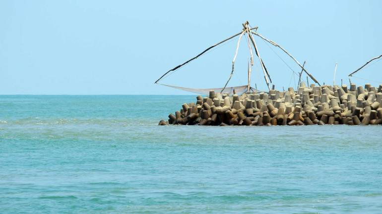 Munambam Beach_Muziris Golden Beach_Chinese fishing net, Munambam Beach