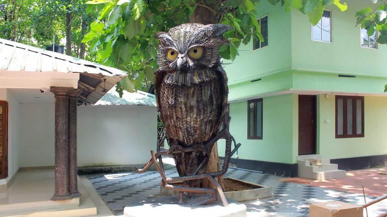 giant owl sculpture_selfie spot at Thattekad Bird sanctuary - Dr Salim Ali Bird Sanctuary, Thattekkad Bird Sanctuary