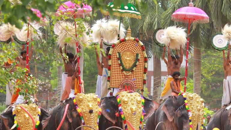 Alavattam and Venchamaram-Thrissur Pooram - Front