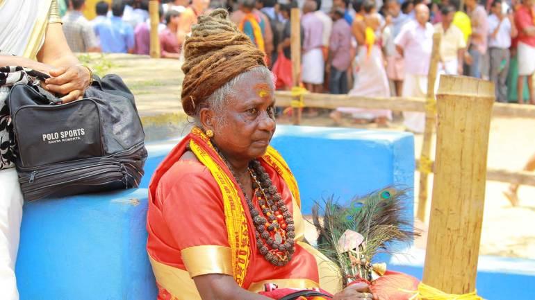 Old Lady-Kodungallur Bharani festival-Kodungallur Bhagavathy Temple