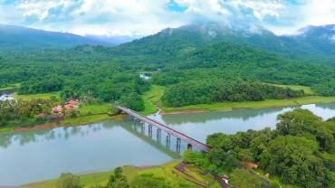 Thattekad - Kuttampuzha - Kothamangalam - Aerial View - Morning, Thattekkad Bird Sanctuary