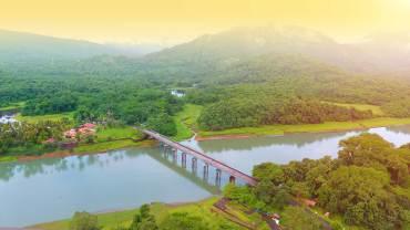 Thattekad - Kuttampuzha - Kothamangalam-Aerial-View, Thattekad Bird Sanctuary