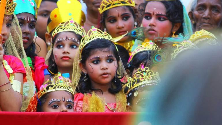 Krishna Janmashtami - Shobha Yathra - Feminine-form-of-Krishna-Gopikas