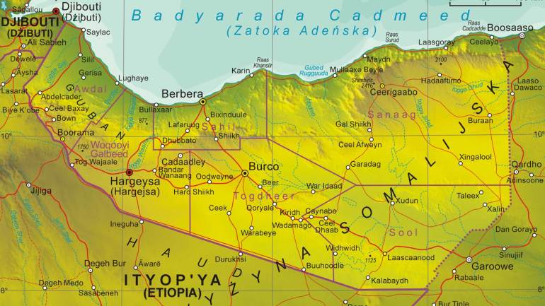 Map-of-Republic-of-Somaliland-(Jamhuuriyadda-Somaliland),-a-self-declared-state-in-East-Africa