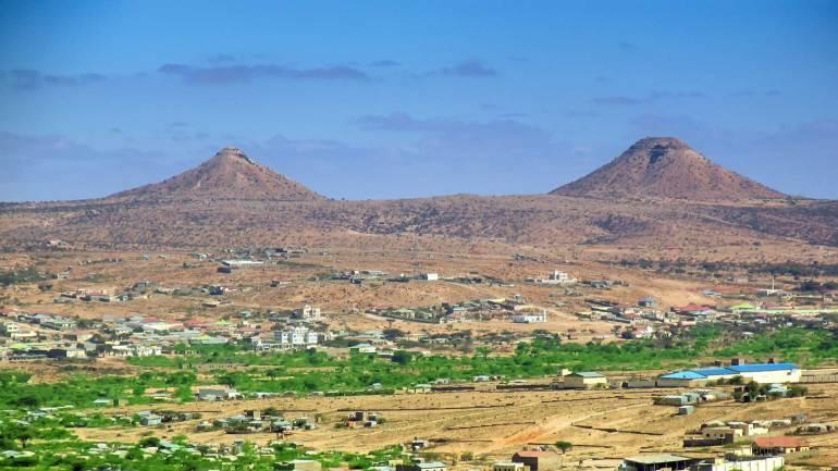 Naasa-Hablood-or-the-Virgin's-Breast-Mountain-in-Woqooyi-Galbeed,-Hargeisa-Somaliland