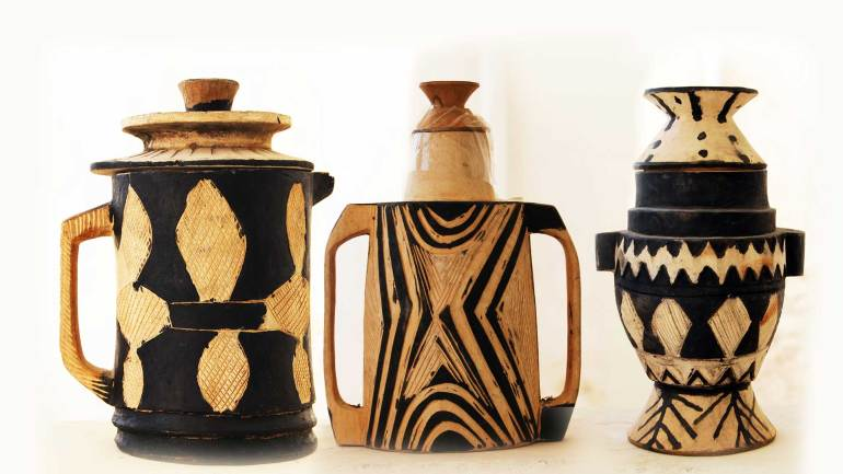 Somali-traditional-wooden-milk-vessels