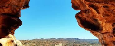 View-from-inside-the-Laas-Geel-cave,-Hargeisa-Somaliland, Laas Gaal, Laas Geel