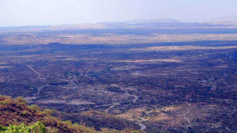 View-of-Laaleys-Village-from-Sheikh-mountains,-Sheikh-village-Somaliland