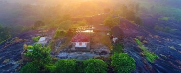 Ayyappanmudi-Temple-Morning-View-Ayyappanmudi-Serene-Temple-Aerial-Photograph