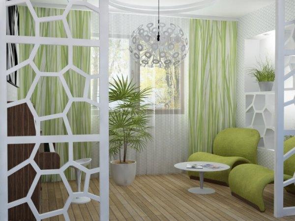 Зеленый цвет в интерьере квартиры. Интерьер в зеленых ...