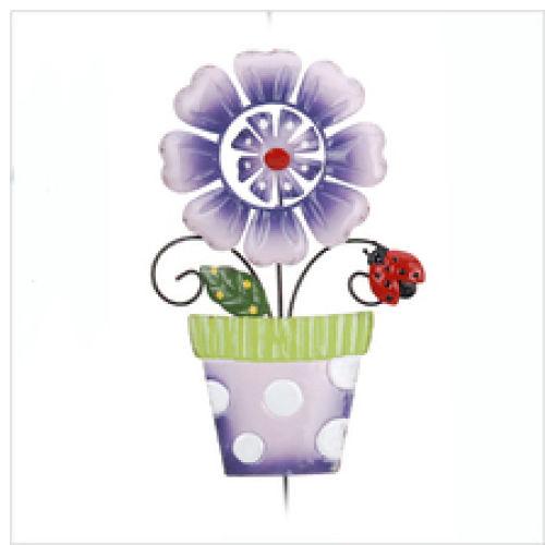Kwiat w doniczce, fioletowy