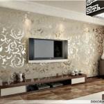 Modern Tv Arkasi Duvar Kagidi Ev Dekorasyonu