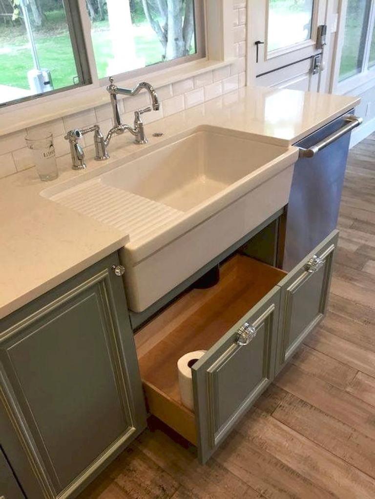 Farmhouse Kitchen Sink Decor Ideas 36 - dekorationcity.com on Farmhouse Kitchen Sink Ideas  id=16693