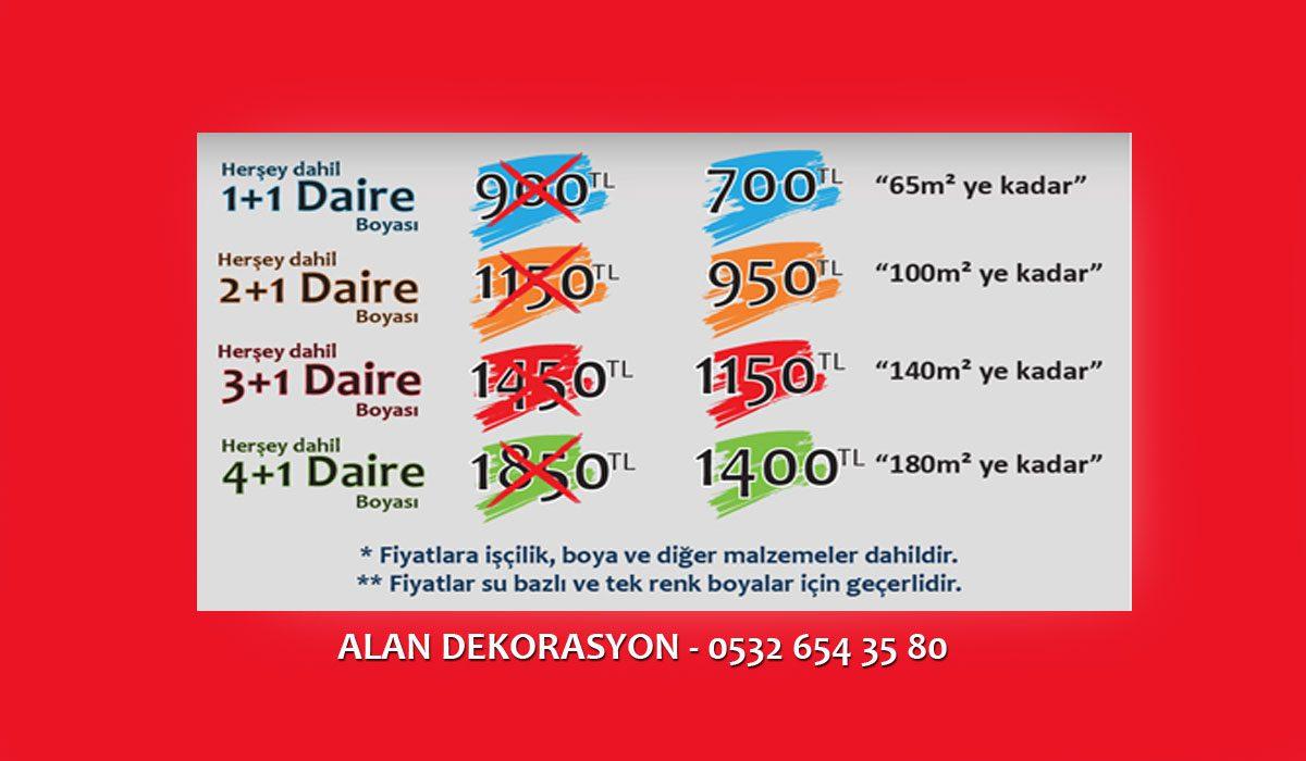 Boya Badana Fiyatları