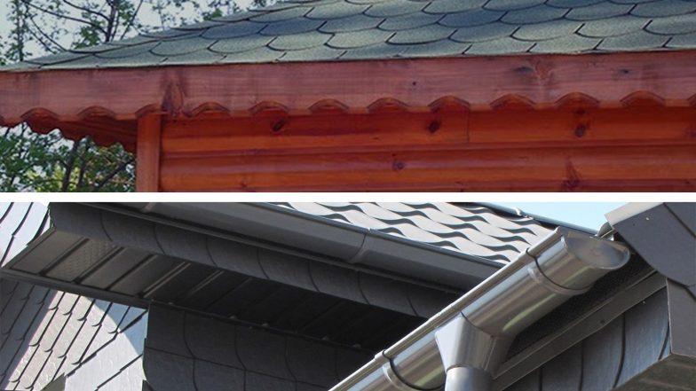 çatı oluk borusu ve çatı saçak alın tahtası